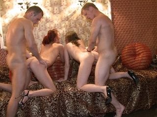 Sex party in a closed bar