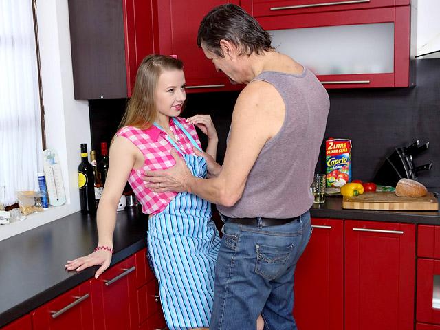 Women kitchen sex mature