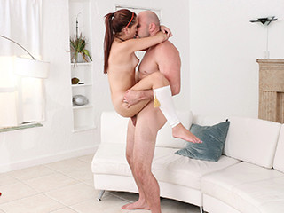 Super hot petite Brooke fucks  her neighbor when she is alone